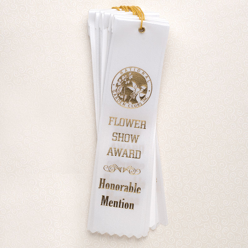 """10 Pack 8"""" Honorable Mention White Ribbons"""