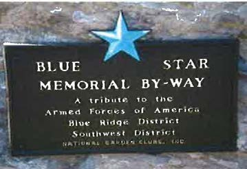 Blue Star Memorial By-Way Marker