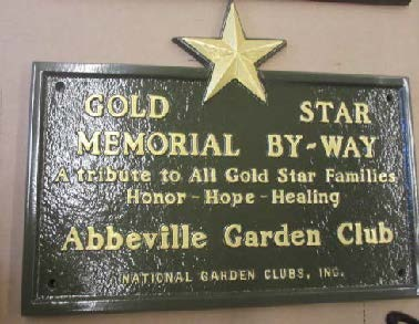 Gold Star Memorial By-Way Marker