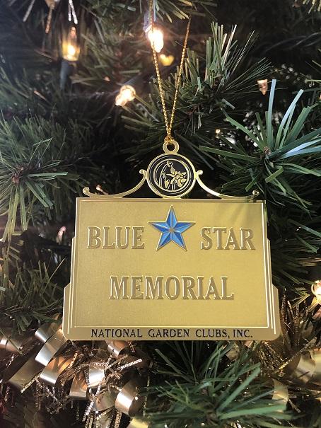 Blue Star Memorial Holiday Ornament