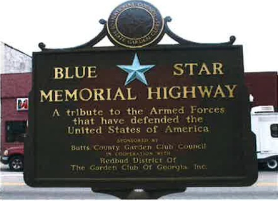 Blue Star Memorial Highway Marker