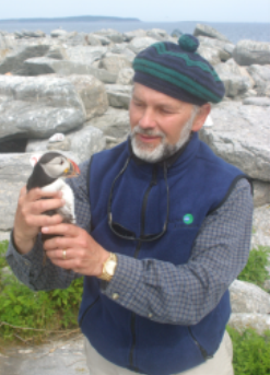 Dr. Kress with a puffin